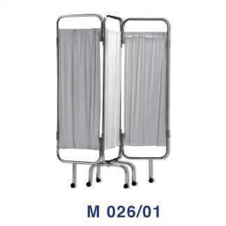 Rumdeler med hjul - 3 sektioner - Flammesikker - Vaskbar