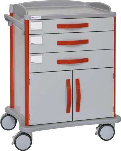 Hospitalsvogn - 3 skuffer - 2 skabslåger (speciallavet til ISO kurve)