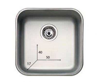 Håndvask lavet af rustfri stål - 40x50x17 cm