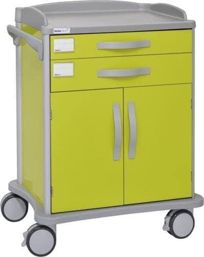 Hospitalsvogn - 2 skuffer - 2 skabslåger (speciallavet til ISO kurve)