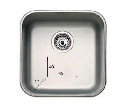Håndvask lavet af rustfri stål - 40x45x17 cm