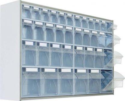 Vægmonteret opbevaringsskab - 125x25x65 cm