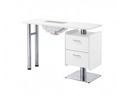 Elegant manicurebord I hvid krydsfiner med ventilator til udstødning