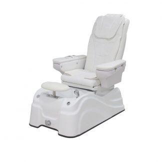 Komfortabel og elegant SPA/Pedicurestol med armlæn - Høj kvalitets belægning