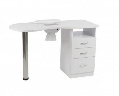 Hvidt manicurebord med ventilator til udstødning