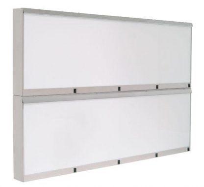 Skab - 146x10x96 cm - 8 fluorescerende lys - Rustfri stål