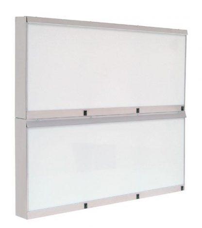 Skab - 110x10x96 cm - 6 fluorescerende lys - Rustfri stål