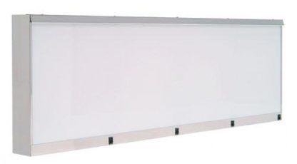 Skab - 146x10x48 cm - 4 fluorescerende lys - Rustfri stål