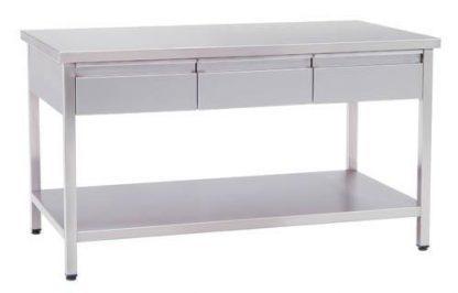 Arbejdsbord med skuffer - 150x80x85 cm