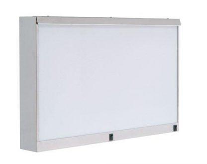 Skab - 74x10x48 cm - 2 fluorescerende lys - Rustfri stål
