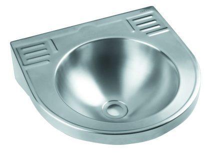 Vægmonteret håndvask I rustfri stål (AISI 304) - Kompakt