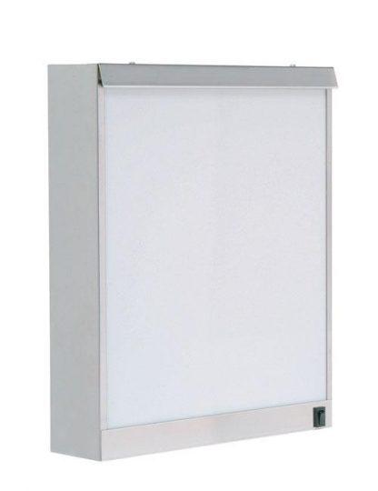 Skab - 38x10x48 cm - 1 fluorescerende lys - Rustfri stål