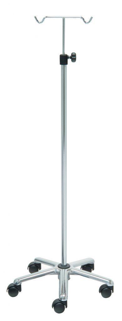 IV-stativ - 2 kroge - Krom stand - Aluminium base