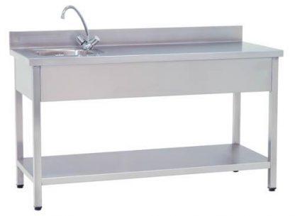 Arbejdsbord med håndvask 150x60x85 cm