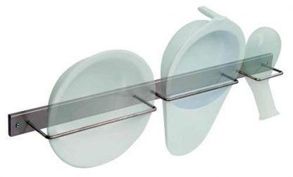 Vægmonteret hylde til håndvask, bækkenskål og mandlig bækkenskål