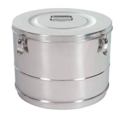 Cylindrisk sterilisationsholder lavet af rustfri stål - Ø30x23 cm