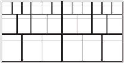 Vægskab med forlængelige skuffer - 123,5x35x60 cm