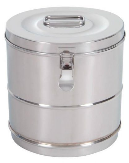 Cylindrisk sterilisationsholder lavet af rustfri stål - Ø20x20 cm