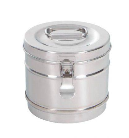 Cylindrisk sterilisationsholder lavet af rustfri stål - Ø14x12 cm