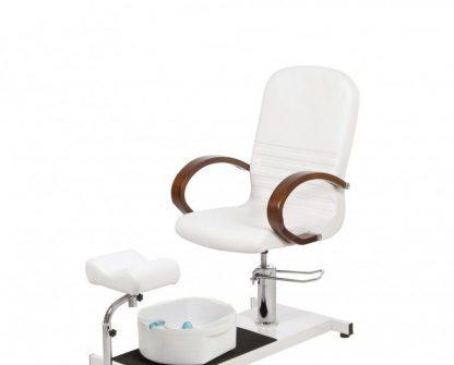 Roterbar pedicurestol med fodspa og Justerbare benstøtter