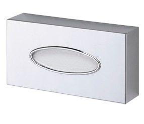 Dispenser til servietter I forkromet messing - Oval åbning