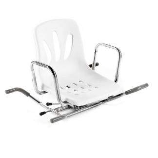 Roterende badekarsstol med ryg- og armlæn