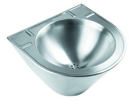 Vægmonteret håndvask I rustfri stål (AISI 304) - Polyerethan indsprøjtning
