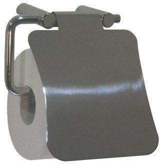 Toiletpapirholder med et låg - Rustfri stål (AISI 304)