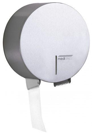 Dispenser til toiletpapir - Ø230 mm til industrielle papirruller - Satin