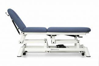 Elektrisk behandlingsbord - 3 sektioner med hjul - Designet til Osteopati