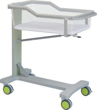 Spædbarnsseng med hjul til neonatologi - Trendelenburg - 90x47x97 cm