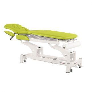 Elektrisk behandlingsbord - 4 sektioner med hjul - Central foldning