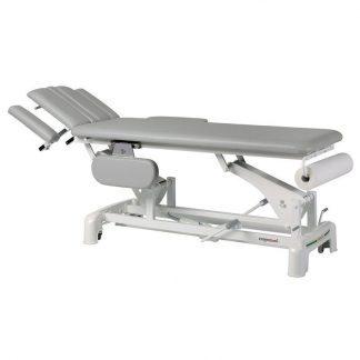 Hydraulisk behandlingsbord - 2 sektioner med 4 armlæn og hjul - Teknisk