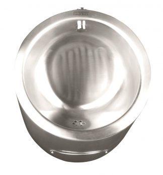 Urinal I rustfri stål - 35,5 x 31,6 x 52,1 cm