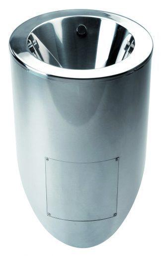 Urinal I rustfri stål - 36,5 x 32,5 x 66 cm