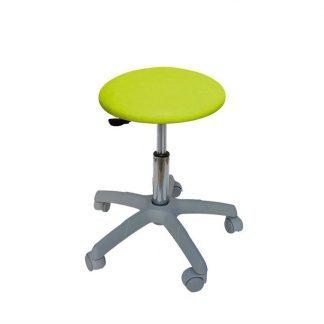 Rund stol med grå base