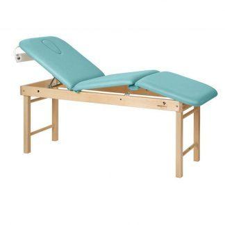 Stationær behandlingsbord - 3 sektioner med træbase - Justerbar - Central foldning
