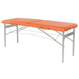 Foldbar massagebord - Aluminium ramme - 2 sektioner - 182x62 cm - Fikseret højde