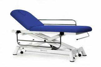 Elektrisk behandlingsbord - 2 sektioner med hjul - Sideskinner - Papirrulleholder