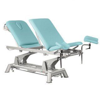 Elektrisk behandlingsbord - 3 sektioner med hjul - Multifunktionel - Tvillinge Søjle