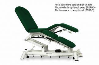 Elektrisk behandlingsbord - 4 sektioner med individuelle benstøtter og optrækkkelige hjul