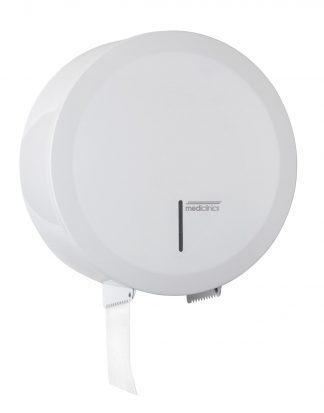 Dispenser til toiletpapir - Ø230 mm til industrielle papirruller - Hvid