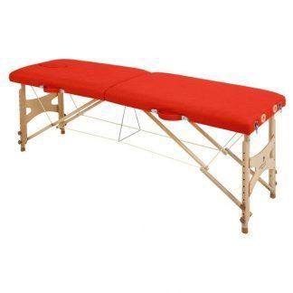 Foldbar træmassagebord - 2 sektioner - 182x50 cm - Justerbar højde