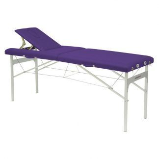 Foldbar massagebord (Alu) - 2 sektioner - 182x62 cm - Fikseret højde