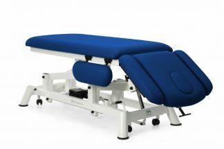 Elektrisk behandlingsbord til osteopati - 2 sektioner med 4 armlæn og hjul - Tvillinge Søjle