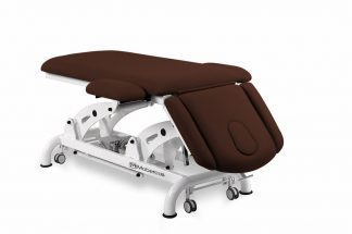 Elektrisk behandlingsbord til osteopati - 2 sektioner med armlæn og hjul