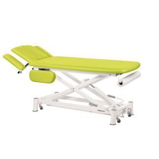 Hydraulisk behandlingsbord - 2 sektioner med 4 armlæn og hjul - Sakselift