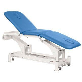 Elektrisk behandlingsbord - 3 sektioner med hjul - Ansigtshul I begge ender