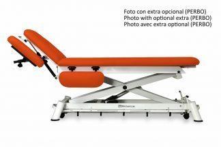 Elektrisk behandlingsbord til osteopati - 2 sektioner med armlæn/hjul - Sakselift