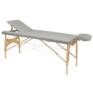 Foldbar træmassagebord - 2 sektioner - 182x70 cm - Justerbart ryglæn/højde